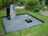 Hauapiire graniidist, PPP, ristlõikega 10x0cm, 2 hauakohta (laius 250cm, pikkus-250cm), serva laius-10cm, serva kõrgus-10cm, graniitkillustik tume mix