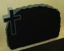 Hauakivi M6D 048 80x60x10cm Poleeritud Klombitud Klombitud ristiga