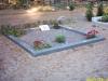 Hauapiire graniidist, PPP, ristlõikega 15x10cm, 2 hauakohta (laius 250cm, pikkus 250cm), serva laius 15cm, serva kõrgus 10cm, graniitkillustik hele mix