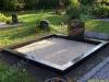 Hauapiire graniidist, PPP, ristlõikega 15x15cm, 2 hauakohta (laius 250cm, pikkus 250cm), serva laius 15cm, serva kõrgus 15cm, liiv