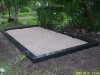 Hauapiire graniidist, PPP, ristlõikega 15x15cm, 4 hauakohta (laius 500cm, pikkus 250cm), serva laius 15cm, serva kõrgus 15cm, liiv