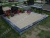 Hauapiire graniidist plaatidega, PPP-15 must, 2 hauakohta (laius 250cm, pikkus 250cm), betoonist vundamendil, serva laius-15cm, sirge lilleriba mullaga, liiv