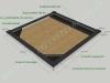 Hauapiire graniidist plaatidega, SPS-15, 2 hauakohta (laius 250cm, pikkus 250cm), betoonist vundamendil, serva laius 15cm, nurgapostid, sirge lilleriba ja -nurgad mullaga, täide