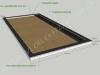 Hauapiire graniidist plaatidega, SPS-15, 4 hauakohta (laius 500cm, pikkus 250cm), serva laius 15cm, sirge lilleriba mullaga, täide