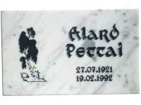 Hauaplaat [0100-43] 40x25x3cm, valge marmor, pilt-22, kiri-8(est), must