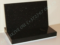 Hauaplaat [0100-20] 40x25x3cm, tähistaevas graniit, poleeritud servadega,  poleeritud servadega graniitalus