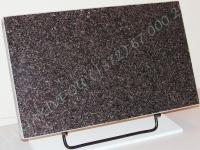 Hauaplaat [0150-61] 50x30x3cm, tumehall graniit, metallalus