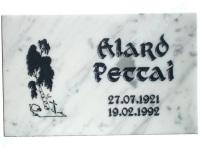 Hauaplaat 0100 40x25x3cm valge marmor pilt-22 kiri-8 must