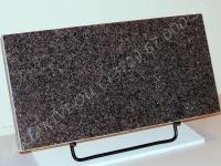 Hauaplaat 0125 50x25x3cm, tumehall graniit, metallist alus