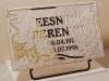 Hauaplaat [0100-13] 40x25x3cm, helebeež graniit, pilt-43, kiri-43(est), kulla-, must ja hõbedavärv, metallalus