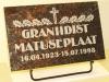 Hauaplaat 0100 40x25x3cm tumepruunl graniit pilt-2 kiri-2 naturaalne metallist alus_1