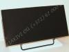 Hauaplaat [0125-8] 50x25x3cm, must graniit, poleeritud servad, metallalus