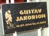 Hauaplaat [0150-41] 50x30x3cm, must pärl graniit, pilt-22, kiri-10(est), kullavärv