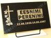 """Hauaplaat [0150-24] 50x30x3cm, tähistaevas graniit, pilt-73,, kiri-17(est/rus) """"R-kastis,"""" kullavärv, metallalus"""