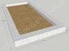 Klassikaline betoonpiire, 1 hauakoht (laius 125cm, pikkus 250cm), serva laius 15cm, madal päis, liiv
