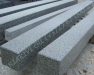 Hauapiire lihvitud betoon, must kild ja hall tsement, detailid