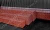 Hauapiire lihvitud betoon, must kild ja punane tsement, detailid