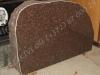 Hauakivi [054-16] 90x60cm, Poleeritud Klombitud Klombitud, pruun graniit
