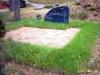 Muruga mätastatud hauapiire, 2 hauakohta (laius 250cm, pikkus 250cm), liiv