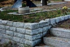 Hauapiire paekivist, eritellimus, 15cm x 1-4 rida, trepp, muru, graniitkillustik, hauakivid