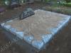 Hauapiire paekivist, 15cm x 1 rida, 2 hauakohta (laius 250cm, pikkus 250cm), liiv, hauakivi