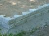 Hauapiire paekivist, 15cm x 2 rida, 4 hauakohta (laius 500cm, pikkus 250cm), liiv