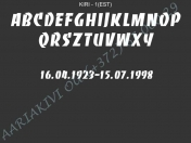 ШРИФТ-001(латиница)