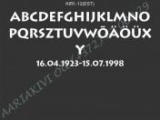 ШРИФТ-012(латиница)
