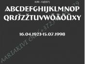 ШРИФТ-013(латиница)