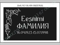 РИСУНОК-109, ШРИФТ-109(латиница/кирилица)