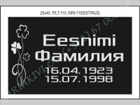 РИСУНОК-110, ШРИФТ-110(латиница/кирилица)