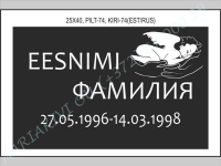 РИСУНОК-074, ШРИФТ-074(латиница/кирилица)