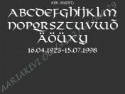 ШРИФТ-050(латиница)