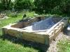 Hauapiire graniidist, eriprojekt Paldiski kalmistul, vundament valatud