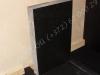 Hautakivi [040-11-10] 50x80x10cm, Kiillotettu Sahattu Sahattu, musta graniitti