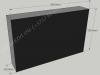 Hautakivi [040-16-15] 80x50x15cm, Kiillotettu Sahattu Sahattu, musta graniitti