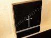 Hauakivi [048-4-10] 60x80x10cm, Poleeritud Poleeritud Poleeritud, must graniit, tagaküljel rist