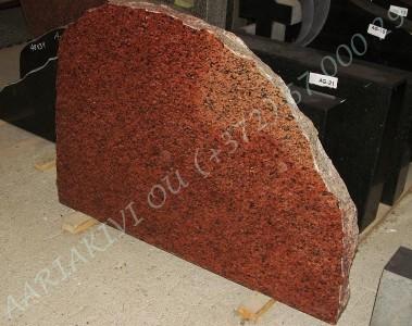 Hauakivi 048 80x60cm Poleeritud Klombitud Klombitud punakaspruun
