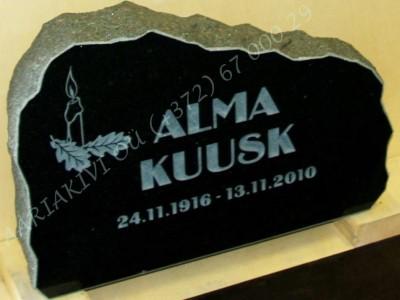 Hauakivi 024-10 60x40x10cm Poleeritud Klombitud Saetud pilt-4 kiri-2 naturaalne