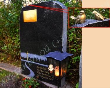 Hauakivi 060-15 60x100x15cm Poleeritud Klombitud Saetud pronksist plaat pilt-117 kiri-66 a_0