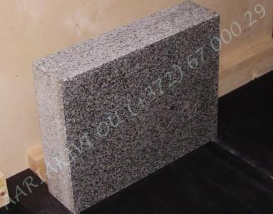 Hauakivi 020 50x40x12cm Poleeritud Saetud Saetud helehall graniit