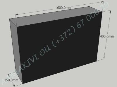 Hauakivi 024 60x40x15cm Poleeritud Saetud Saetud