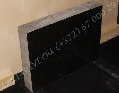 Hauakivi 027 60x45x10cm Poleeritud Saetud Saetud must graniit