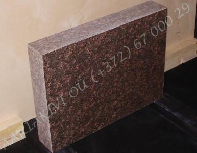 Hauakivi 027 60x45x10cm Poleeritud Saetud Saetud pruun graniit