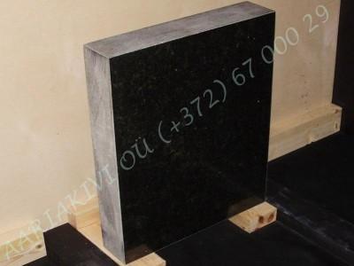 Hauakivi 030 50x60x10cm Poleeritud Saetud Saetud must graniit