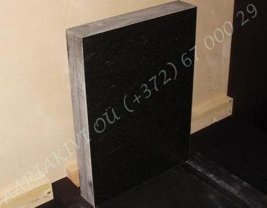 Hauakivi 035 50x70x10cm Poleeritud Saetud Saetud must graniit