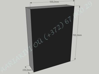 Hauakivi 035 50x70x15cm Poleeritud Saetud Saetud must graniit