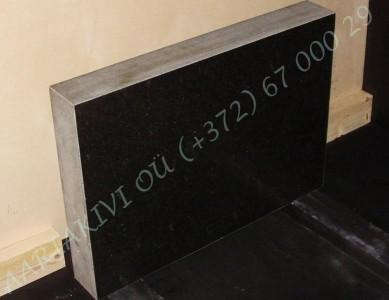 Hauakivi 035 70x50x10cm Poleeritud Saetud Saetud must graniit