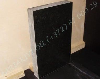 Hauakivi 040 50x80x10cm Poleeritud Saetud Saetud must graniit