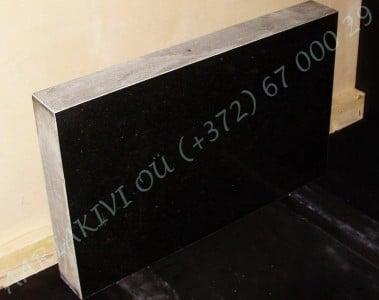 Hauakivi 040 80x50x10cm Poleeritud Saetud Saetud must graniit